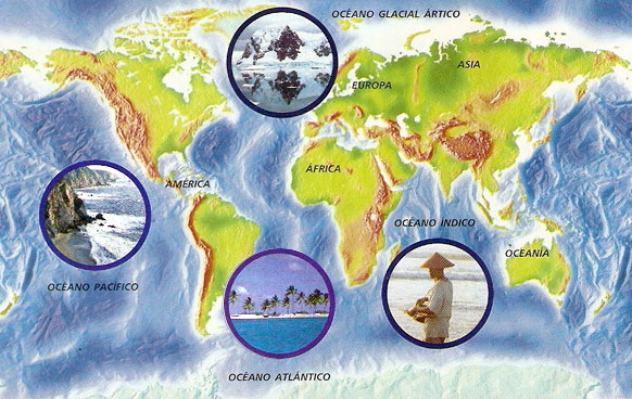 Generalidades De Los Continentes: Continentes Y Océanos