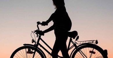 Andando en bicicleta