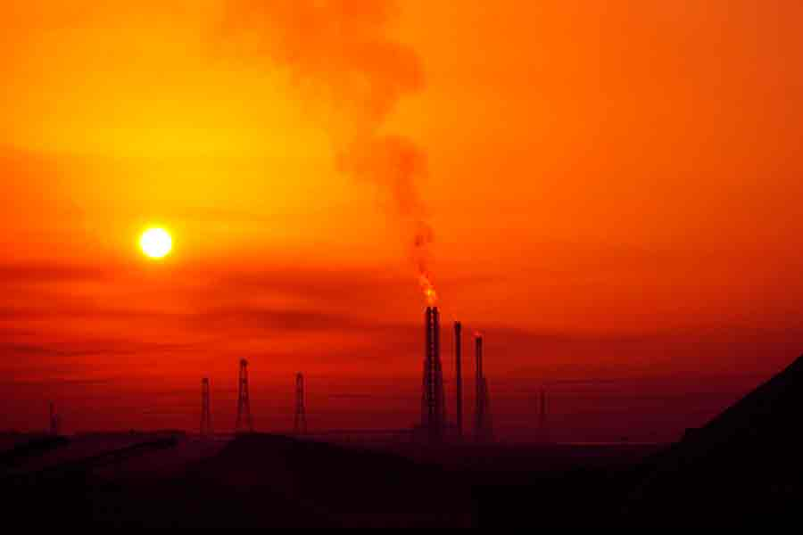 Emisión de gases y calentamiento global