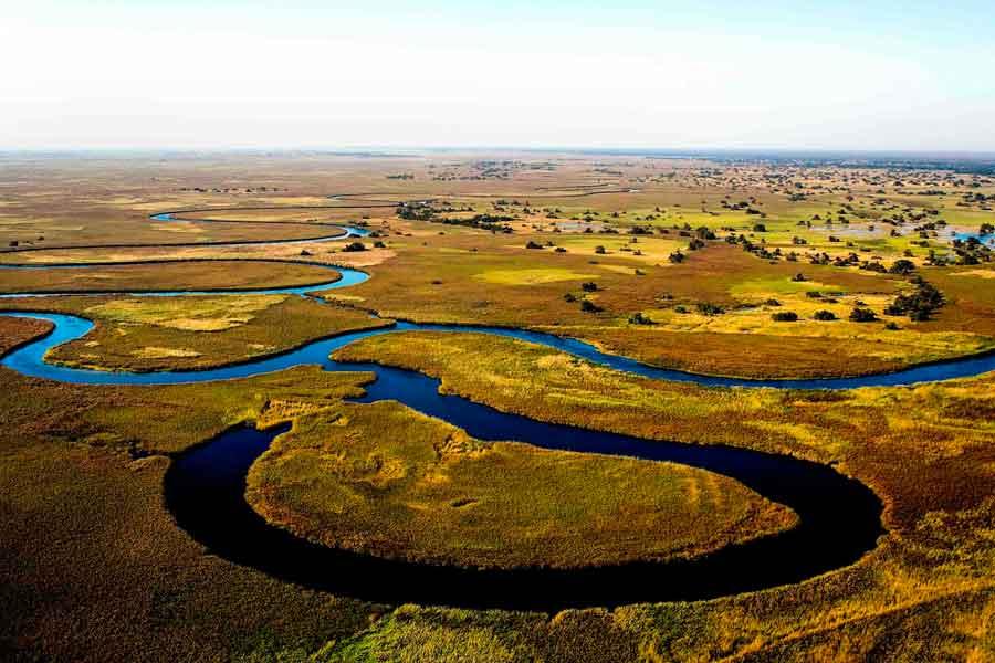 El río Okavango